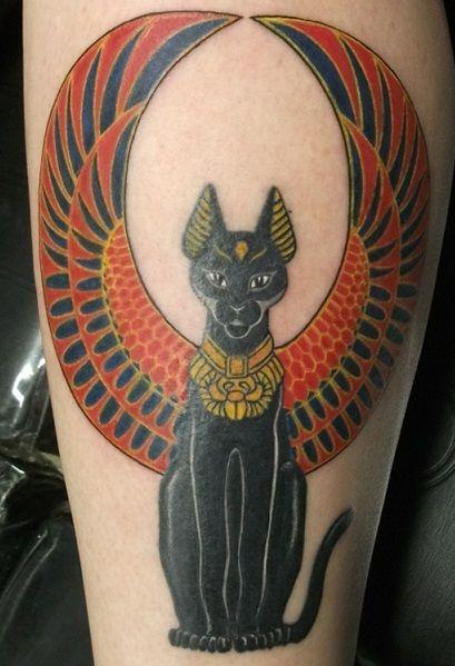 фото египетских кошек тату касается