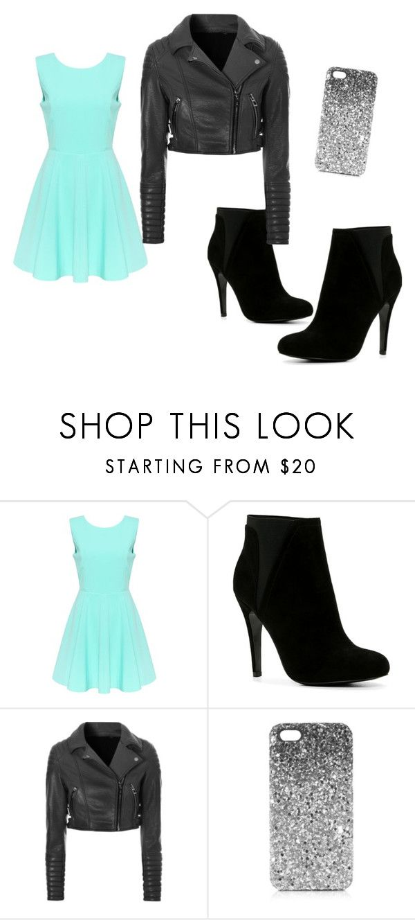 """teal and black"" by marcia-1018643 ❤ liked on Polyvore featuring ALDO, Glamorous and Topshop"