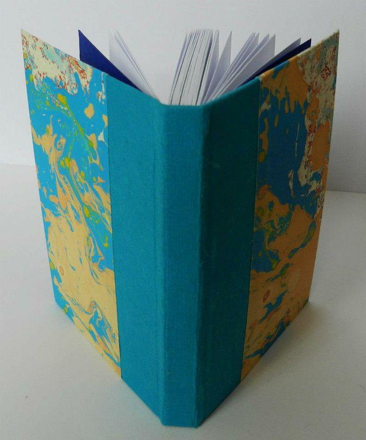Handmade notebook Material: canvas, paper