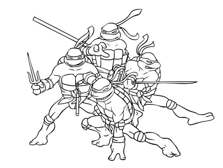 Tortue Ninja Coloriage