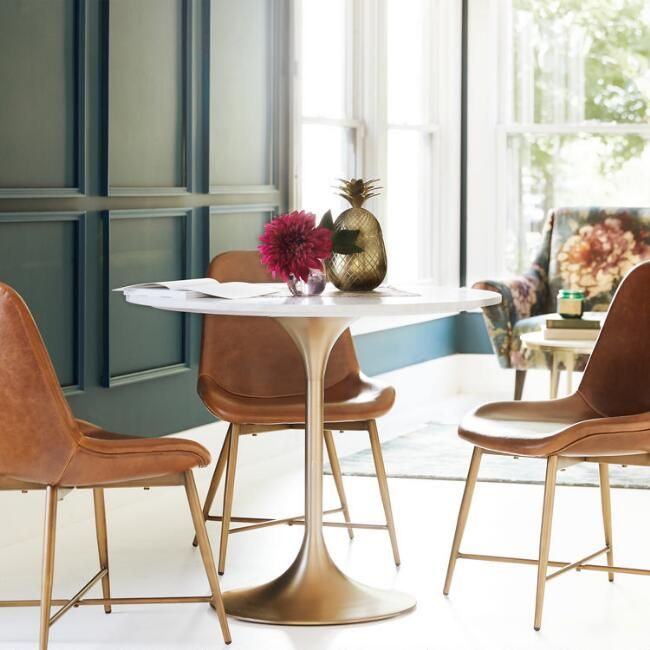 Daily Find Tulip Dining Table Dining Table Marble Molded Chair