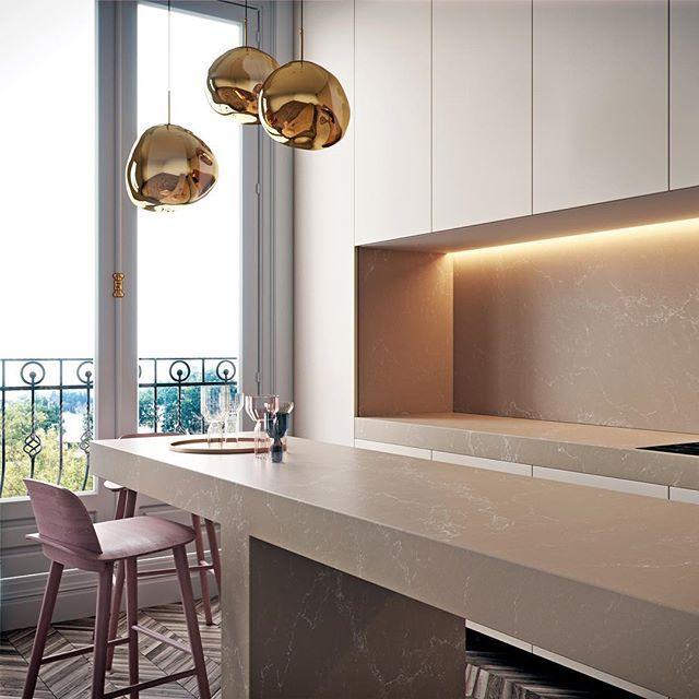 Kitchen Caesarstone Tuscan Dawn Delicious Tuscan Dawn - New Design 2016 - Discover More: Link in bio #caesarstone #newdesign #2016 #newcolour #caesarstonecollection #supernaturaldesign #new #design #newyork #marbleinspired #wereexcited