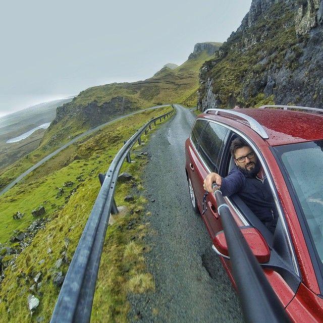 Scotland. Volvo V70. Gopro