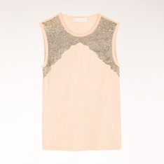Gold Metal Bead T-Shirt  #JournelleStellaFNO