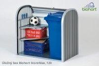 Biohort Úložný box StoreMax® 120, stříbrná metalíza
