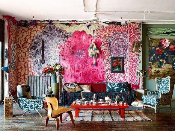 NY loft Martyn Thompson || Décoration ultra bohème