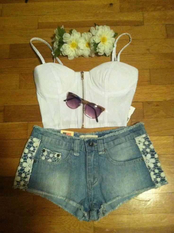 simple rave outfits for girls | Pin it Like Image