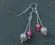 Murano glass double drop earrings by Firefrost