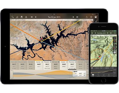 The Photographer's Ephemeris (TPE) helps plan outdoor photography shoots in natural light, particularly landscape and urban scenes. It's a map-centric sun and moon calculator: see how the light will fall on the land, day or night, for any location on earth.