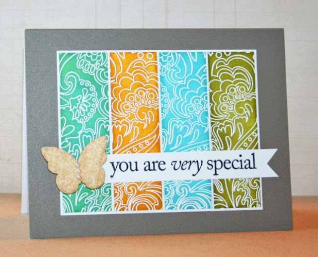 Embossed and inked card: Hero Arts, Papercraft, Handmade Cards, Cardmaking, Cards Scrapbook Ideas Paper, Card Making, Card Ideas, Paper Crafts