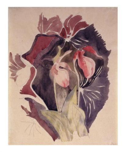 Time for some Wild Orchids. These striking slipper orchids are by Expressionist Charles Demuth, 1920