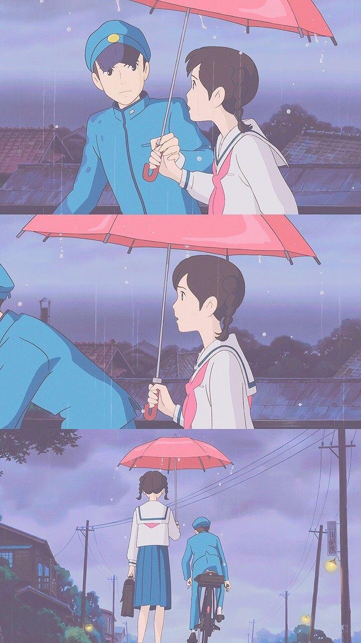 Pin oleh vania shinta di Ghibli Seni inspirasi, Seni