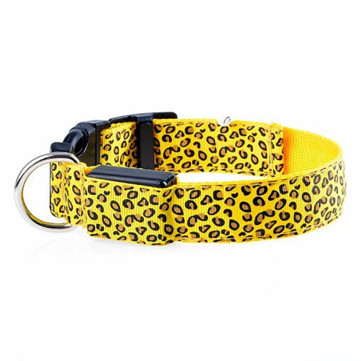 Adjustable Dog Collar With LED Light - Leopard Style - Big Star Trading Store