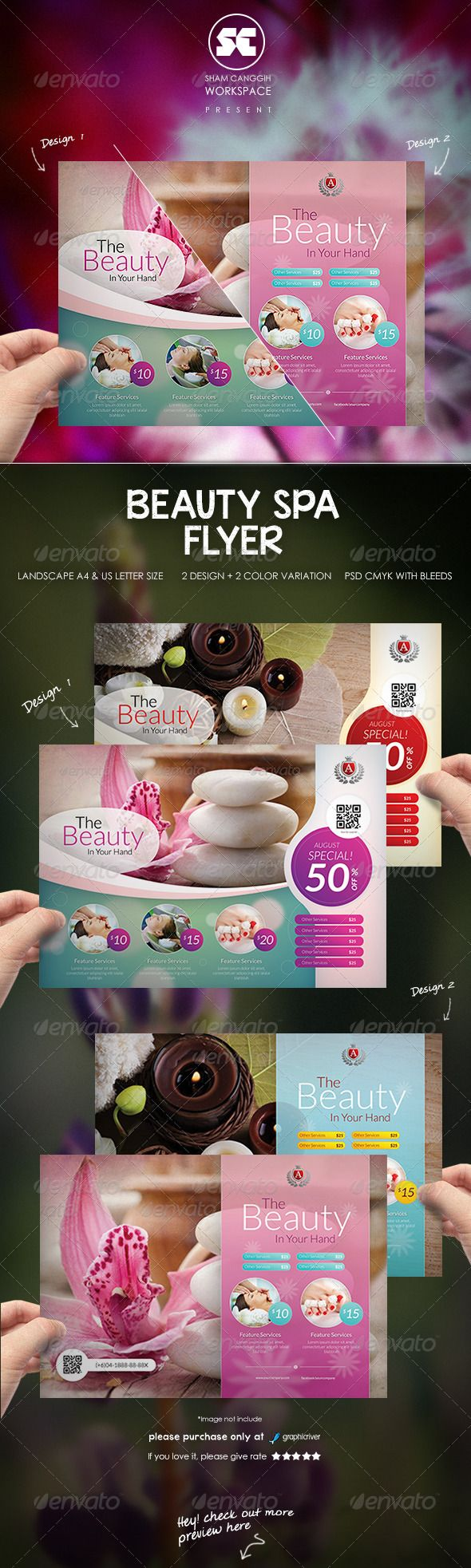 Beauty Spa Flyer  #graphicriver