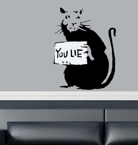 Banksy Rats Stencils. You Lie Banksy Rat Reusable Graffiti Art Stencil. Ideal for Home Wall Painting Decorating. Size Options.
