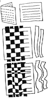 Paper weaving with kids