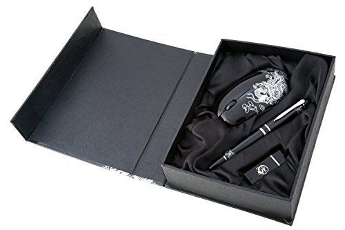 """""""Notebook Essentials Set"""" - USB Pen Drive, Wireless Mouse and Writing Pen Set, Corporate Business Gift For Him, Birthday or Christmas Gift, Men's Pen Gift Set Boxed - Royal Hub"""