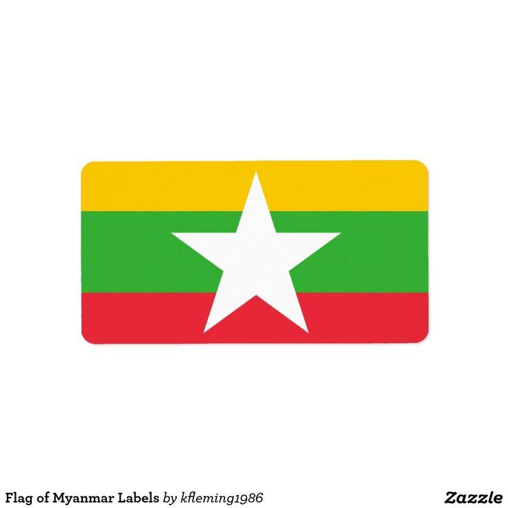 Flag of Myanmar Labels