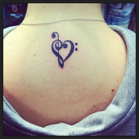 treble clef and bass clef heart tattoo tattoos pinterest heart treble clef and heart tattoos. Black Bedroom Furniture Sets. Home Design Ideas