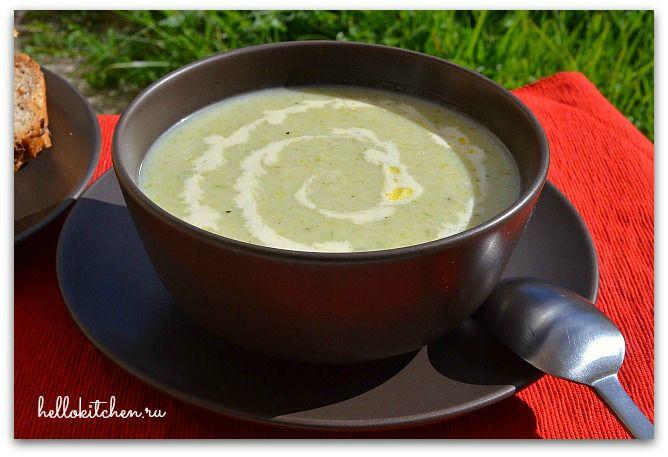 Суп пюре из лука порея
