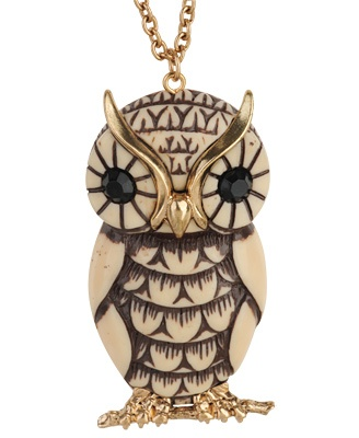 Bow & Owl Necklace | FOREVER21
