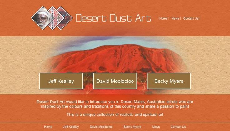 Desert Dust Art Website Designed by Dreama