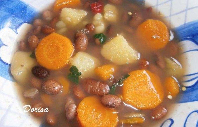 Zdravější dietní fazolová polévka
