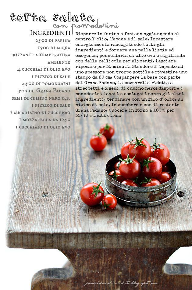 PANEDOLCEALCIOCCOLATO: Torta salata con Pomodorini e la pasta matta