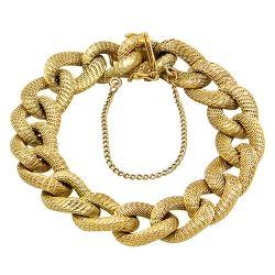 18ct Gold Weaved Link Bracelet
