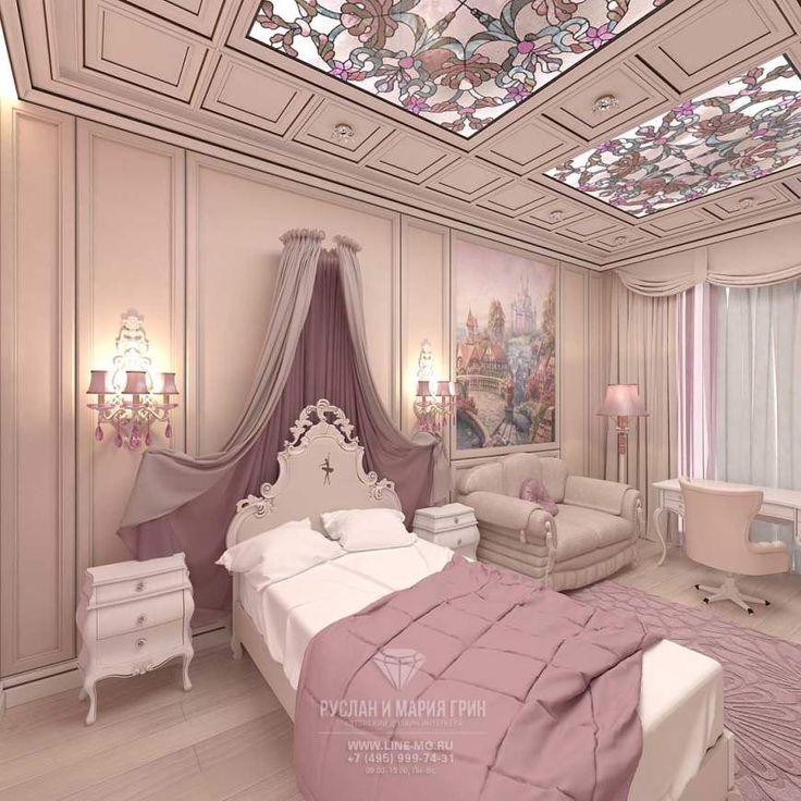 Дизайн детской комнаты для девочки  http://www.line-mg.ru/dizayn-detskoy-komnaty-dlya-devochki-skolkovo