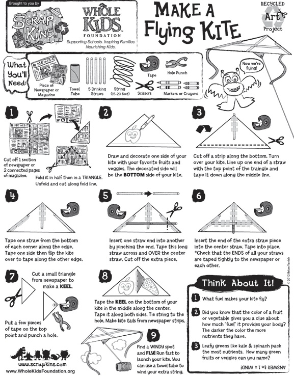 Make a Flying Kite with ScrapKins Hands-On, Recycled Projects | Whole Kids Foundation