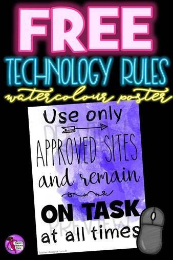 Without clear rules in place, students can often misuse their technology time. Make the rules of your computer room clear, and decorate your room with beautiful watercolours at the same time with these posters! You can get one for free right now!