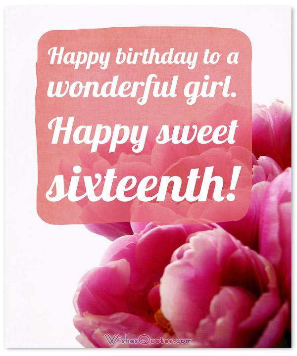 Adorable Happy 16th Birthday Wishes By Wishesquotes 16th Birthday Wishes Birthday Wishes Messages Birthday Wishes Quotes
