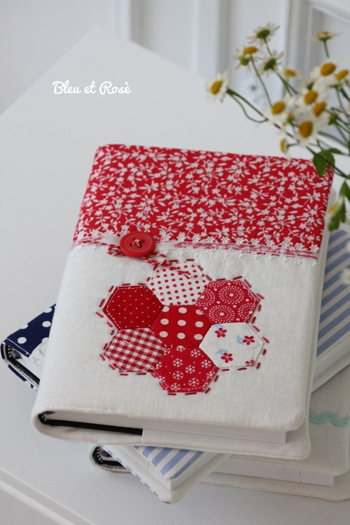Red and white hexi book cover.  Love how clean it looks.
