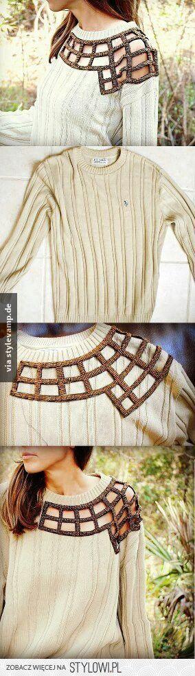 Mit Hilfe eines Netztes (Diy Clothes Remake)