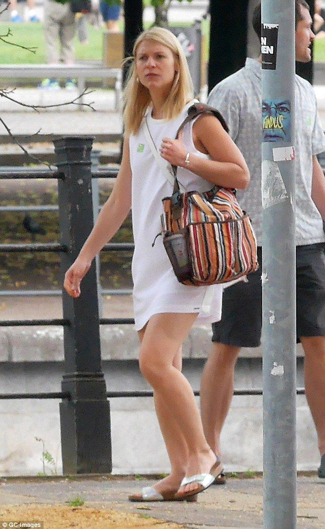 Sightseeing: Claire Danes enjoyed a spot of sightseeing while she was out and about in Ber...