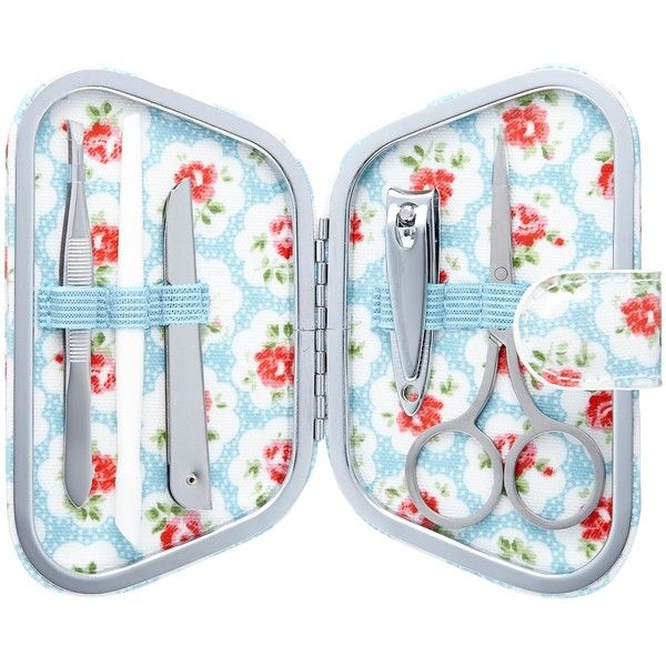 Cath Kidston Provence Rose Manicure Set, Blue (231.315 IDR) ❤ liked on Polyvore featuring beauty products, nail care, manicure tools, manicure and pedicure kit, cath kidston and manicure pedicure kit
