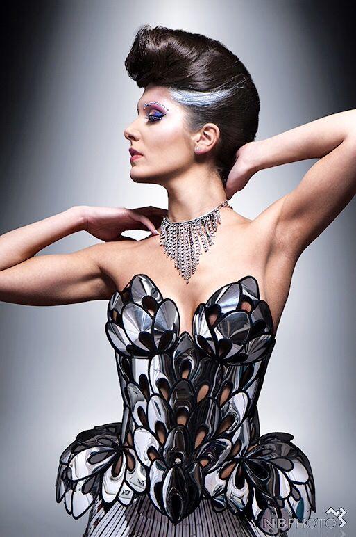 futuristic artnouveau corset