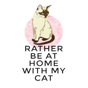 Rather be at home with my cat. Must have cat lady t-shirt!   Fabrily