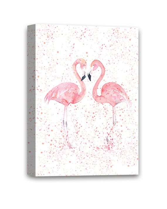 Flamingo Canvas Wall Art Pink Pattern Home Decor Prints