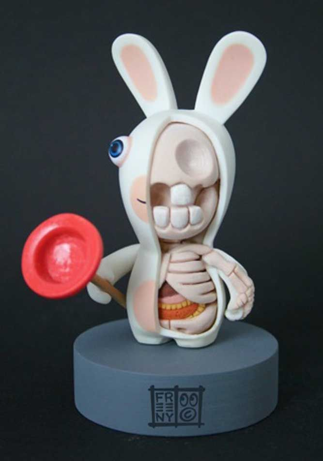 Above: Bunny Character Sculpture by Jason Freeny.