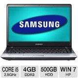 "Samsung Series 3 NP300E4C-A03US Notebook PC - 3rd generation Intel Core i5-3210 2.5GHz, 4GB DDR3, 500GB HDD, DVDRW, 14"" Display, Windows 7 Home Premium 64-bit"