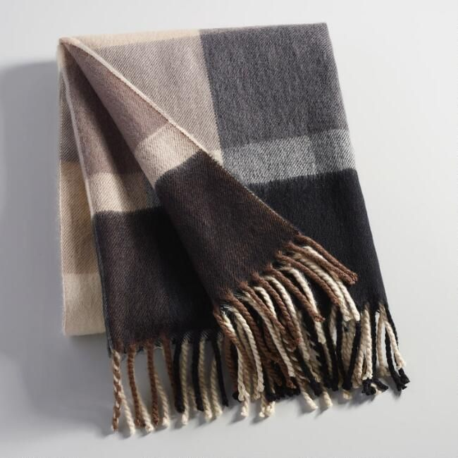 Brilliant Black And Gray Plaid Throw Blanket World Market Patriots Gmtry Best Dining Table And Chair Ideas Images Gmtryco