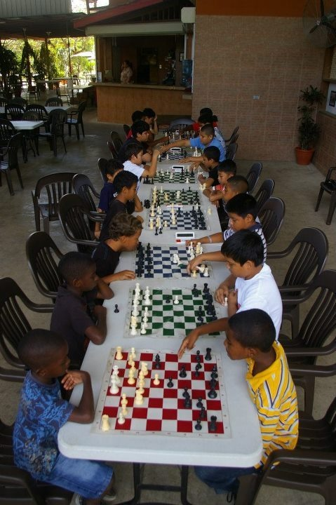 West Cayo Chess Club in Action