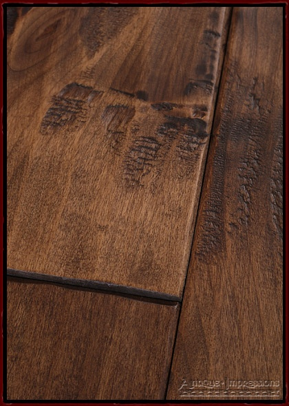 Hand Scraped Wood Floors - Distressed Floors by Antique Impressions