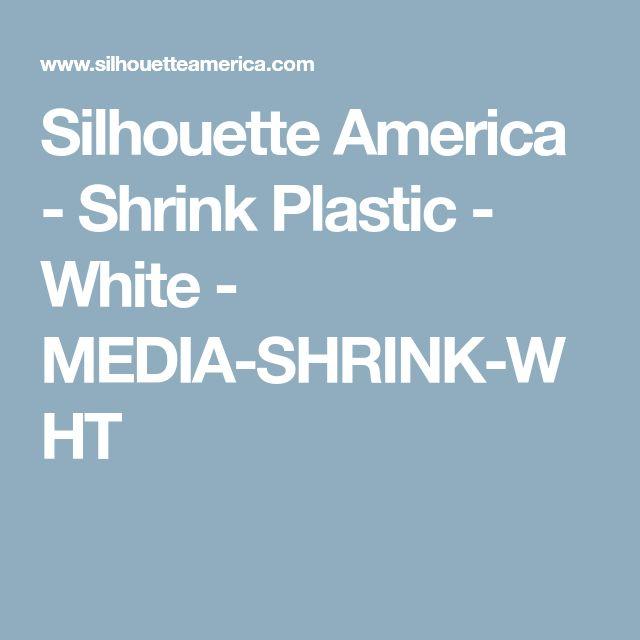 Silhouette America - Shrink Plastic - White - MEDIA-SHRINK-WHT