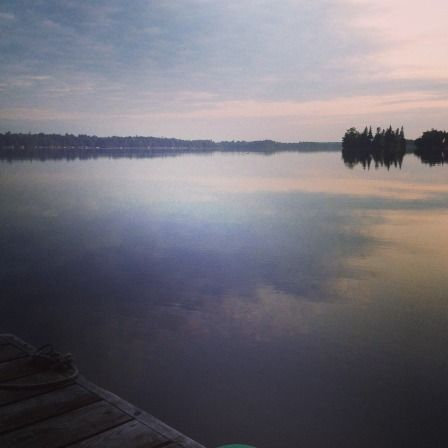 The calm beauty of the lake, early morning.