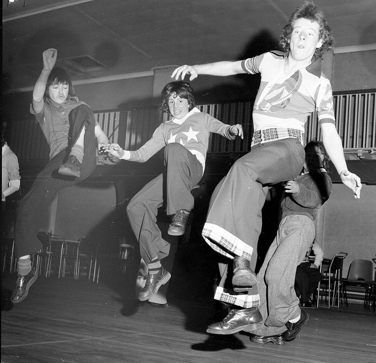 Northern soul dancers, mid-1970s