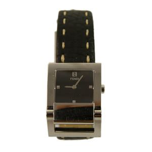 This Swiss made little piece of luxury will elevate your everyday look. It features black leather strap with white stitching and square stainless steel case with sapphire crystal and black plaque.  It comes with the original box and card of authenticity.