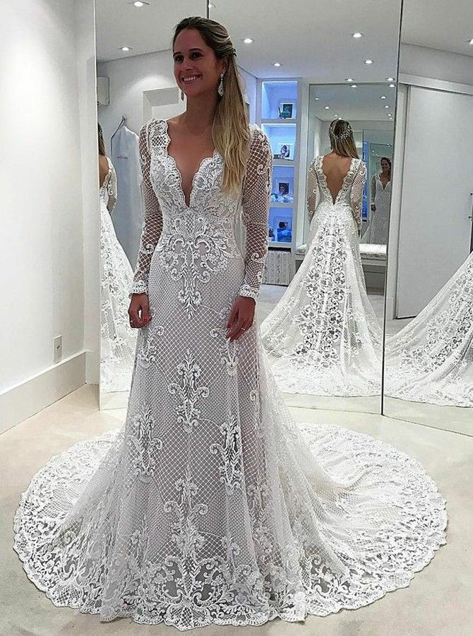 63ec64371e1 perfect lace wedding dresses with long sleeves